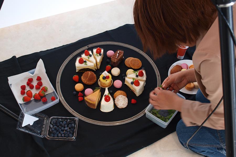 ケーキ屋の撮影